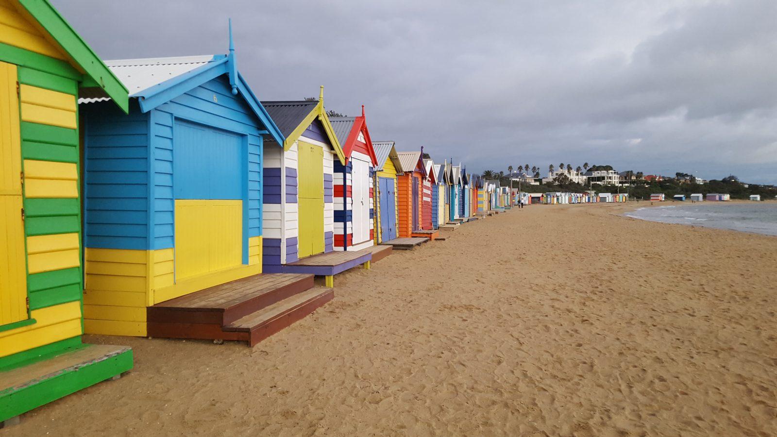 Brighton Beach plage cabanons