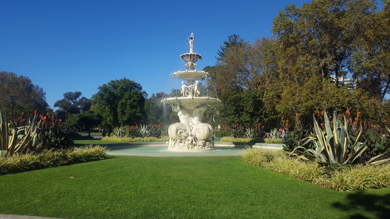 Fontaine jardin melbourne