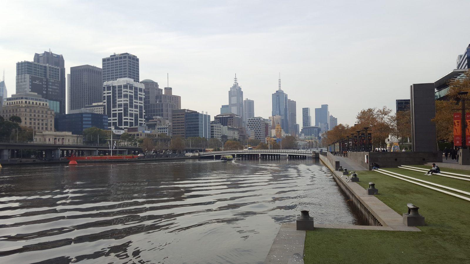 Quai Yarra fleuve Melbourne