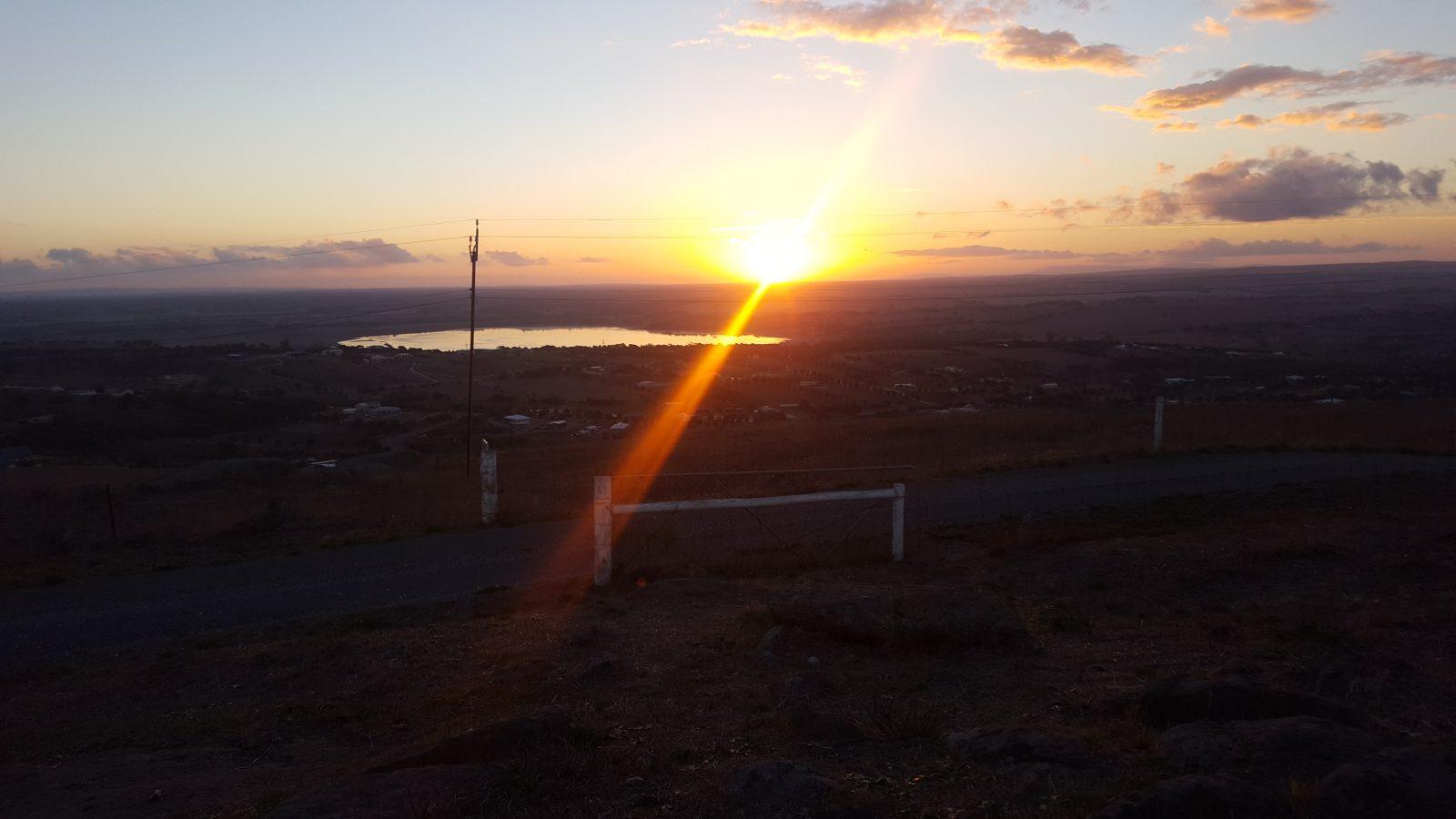 Winter hill Lookout coucher soleil