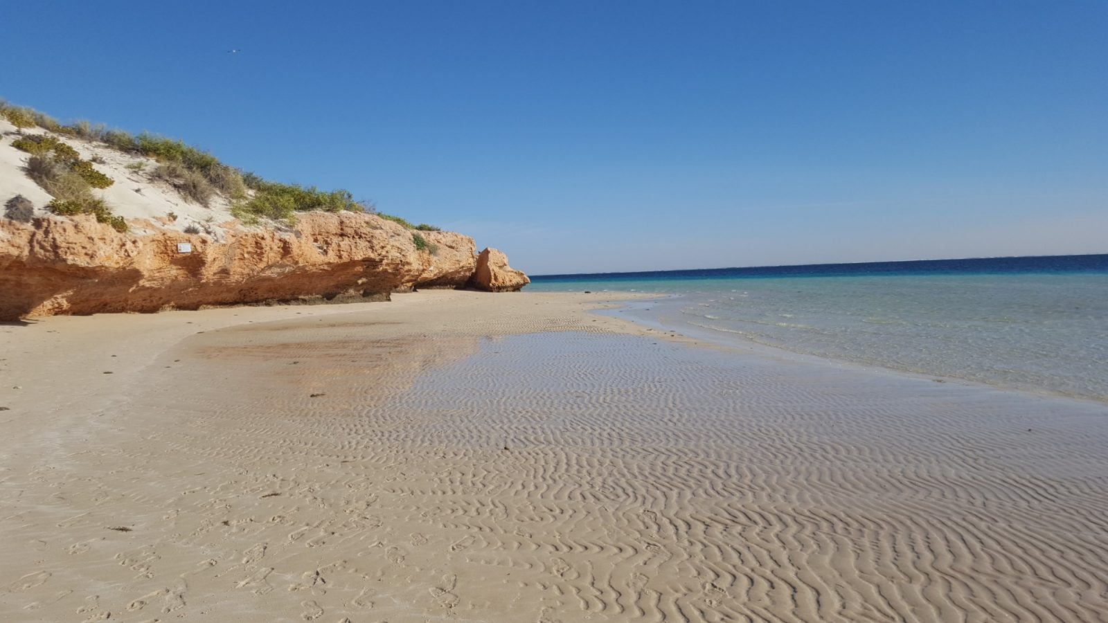 Coral Bay plage balade